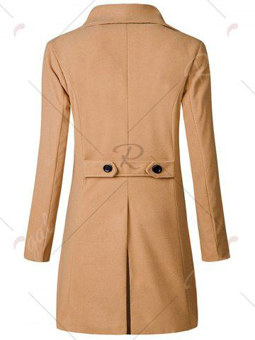 New Wide Lapel Double Breasted Trench Coat - 3XL KHAKI Mobile
