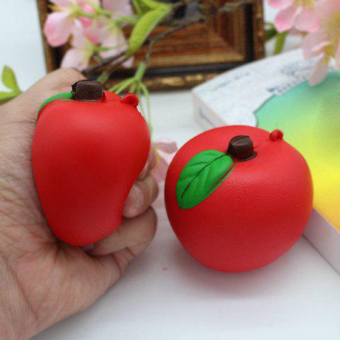 1PC Slow Rising Simulated Apple Squishy Toy Rouge