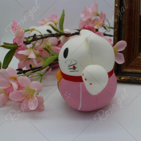 Best Slow Rising Simulated Fortune Cat Squishy Toy - PINK  Mobile