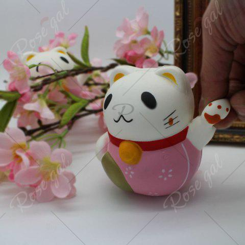 Trendy Slow Rising Simulated Fortune Cat Squishy Toy - PINK  Mobile