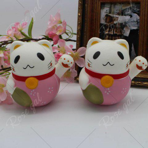 Shop Slow Rising Simulated Fortune Cat Squishy Toy - PINK  Mobile