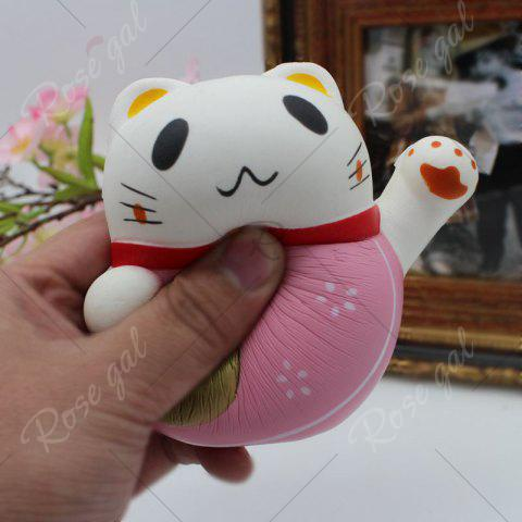 Sale Slow Rising Simulated Fortune Cat Squishy Toy - PINK  Mobile