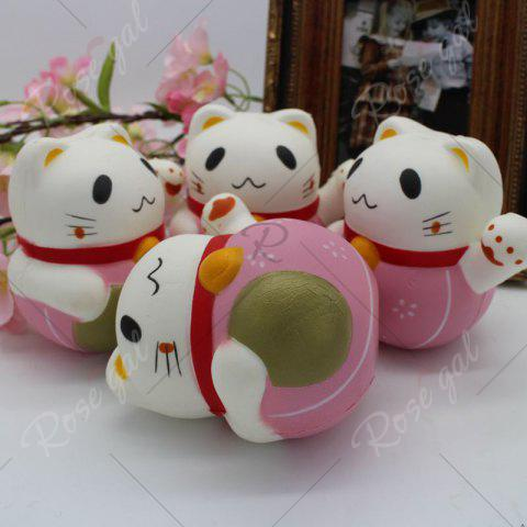Hot Slow Rising Simulated Fortune Cat Squishy Toy - PINK  Mobile