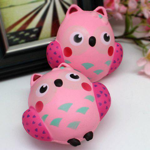 Shop Simulation Owl Slow Rising Squishy Toy - PINK  Mobile