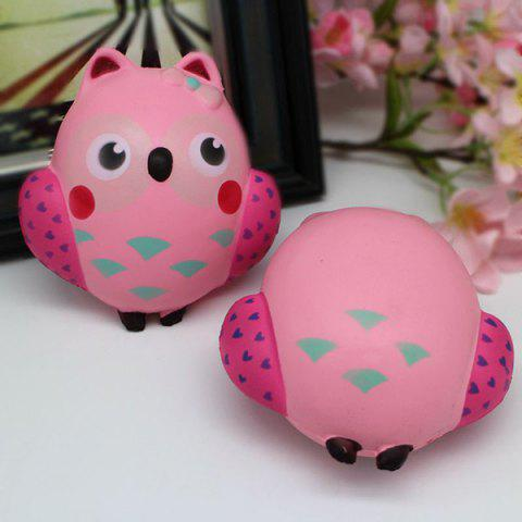 Hot Simulation Owl Slow Rising Squishy Toy - PINK  Mobile