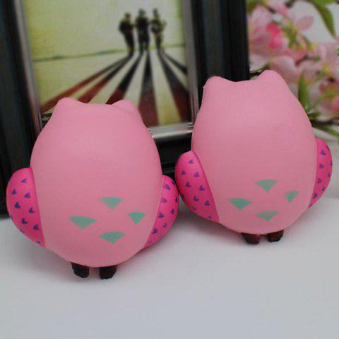 Best Simulation Owl Slow Rising Squishy Toy - PINK  Mobile