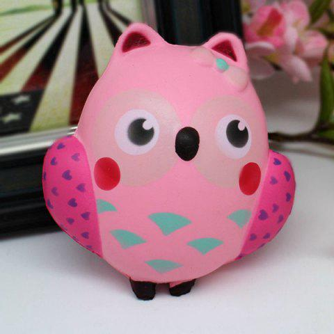 Sale Simulation Owl Slow Rising Squishy Toy PINK