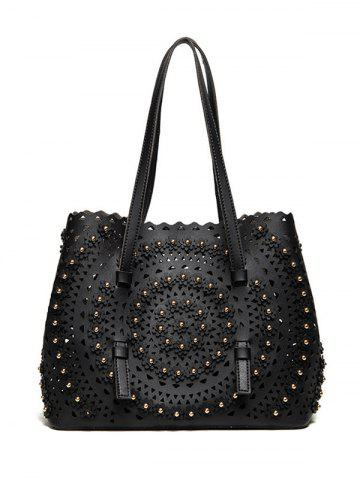 Sac à bandoulière Rivet Hollow Out Noir