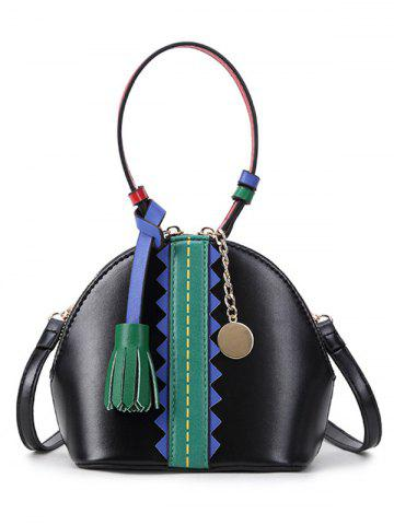 Best Color Block Tassel Mini Crossbody Bag