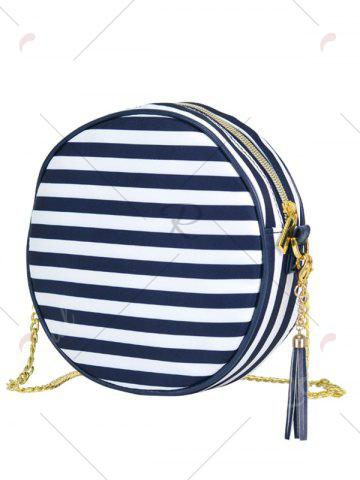 Outfits Tassel Chain Canteen Cross Body Bag - BLUE  Mobile
