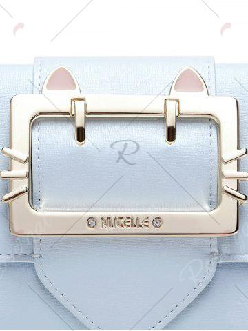 Store Tri Fold Buckle Strap Small Wallet - LIGHT BLUE  Mobile
