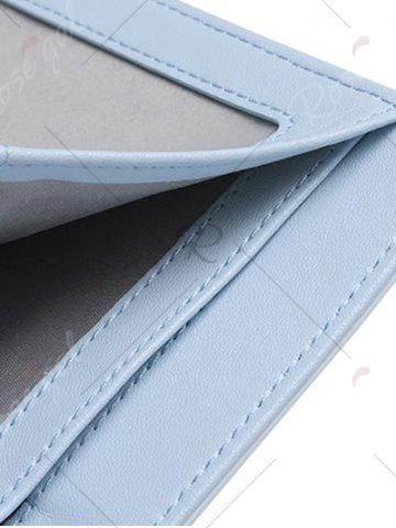 Online Tri Fold Buckle Strap Small Wallet - LIGHT BLUE  Mobile
