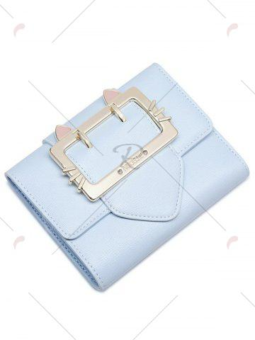 Buy Tri Fold Buckle Strap Small Wallet - LIGHT BLUE  Mobile