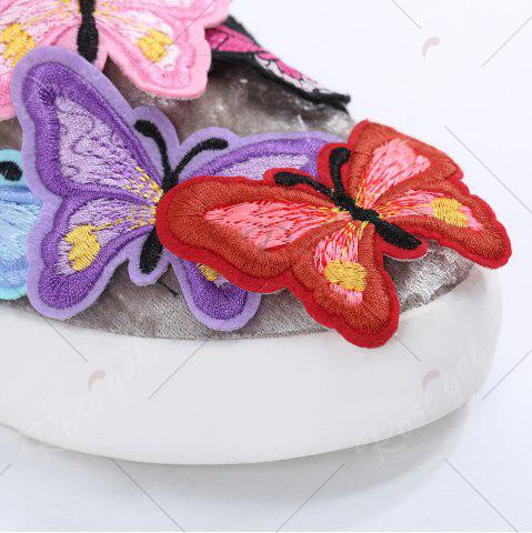 Sale Round Toe Butterfly Slip On Sneakers - 41 GRAY Mobile