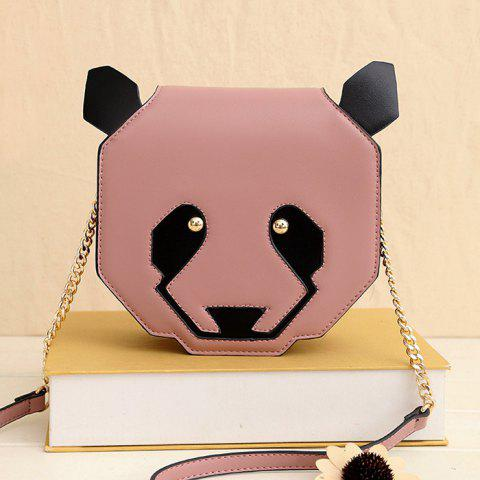 Outfit Novelty Panda Shaped Crossbody Bag - PINK  Mobile