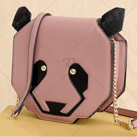 Chic Novelty Panda Shaped Crossbody Bag - PINK  Mobile