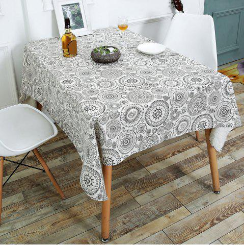Fancy Bohemian Dining Linen Table Desk Cover - W55 INCH * L78 INCH GRAY Mobile