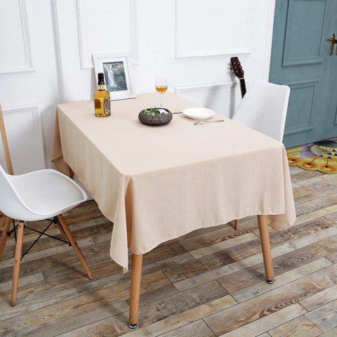 Online Linen Table Cloth For Dining - W55 INCH * L78 INCH BEIGE Mobile