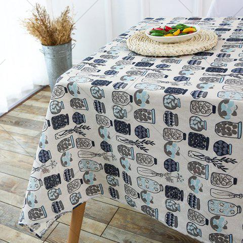Best Kitchen Product Bottle Print Linen Table Cloth - W55 INCH * L55 INCH GRAY Mobile