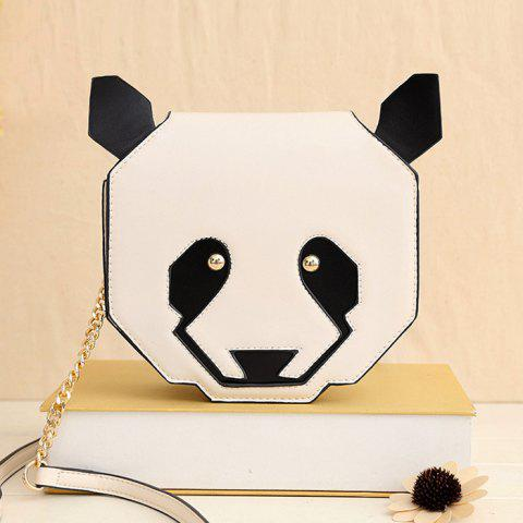 Affordable Novelty Panda Shaped Crossbody Bag WHITE