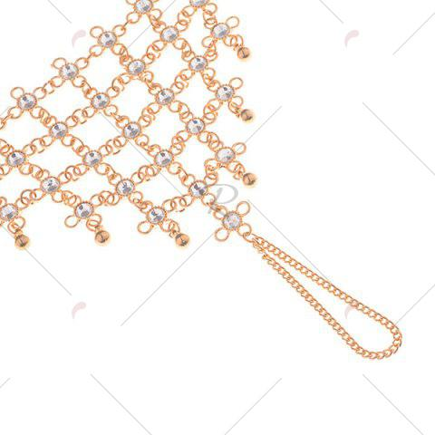 Chic 1PC Rhinestoned Chinese Knot Slave Anklet - GOLDEN  Mobile