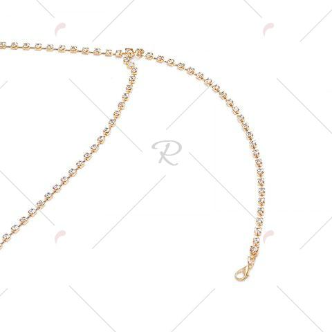 Affordable Rhinestone X Shaped Body Chain - GOLDEN  Mobile