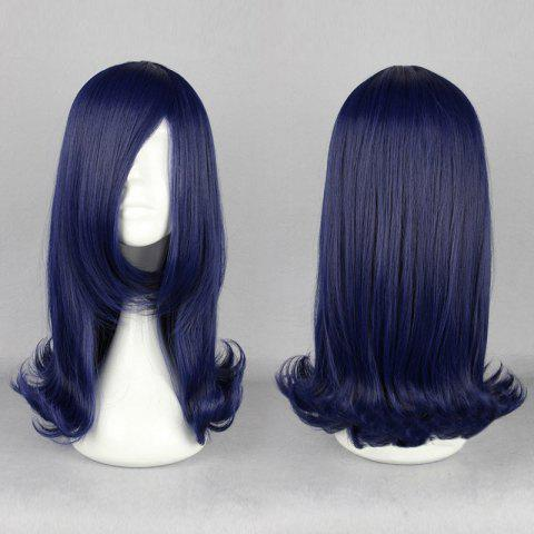 Buy Long Side Bang Straight Tail Upwards Cosplay Anime Synthetic Wig - CERULEAN  Mobile
