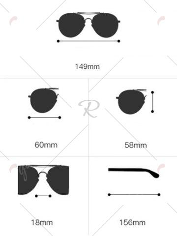 Hot Round Metallic Semi-rimless Sunglasses - RADIANT  Mobile