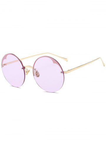 New Round Metallic Semi-rimless Sunglasses - RADIANT  Mobile