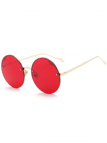Buy Round Metallic Semi-rimless Sunglasses