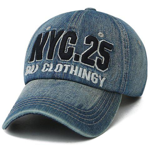 Outfit Letters Number Embroidered Nostalgic Baseball Cap BLUE