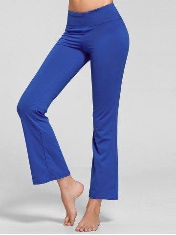 Stretch Flare Yoga Pants avec poche Bleu XL