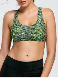 Heather Criss Cross Yoga Bra with Padding