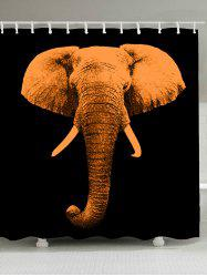 Vintage Elephant Fabric Waterproof Shower Curtain