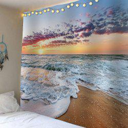 Beach Sunrise Waterproof Wall Hanging Tapestry - Colorful - W79 Inch * L59 Inch