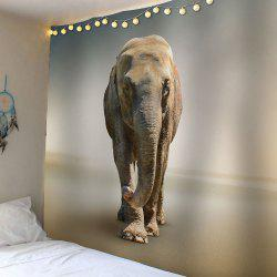 Injured Elephant Waterproof Wall Hanging Tapestry