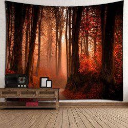 Maple Leaf Forest Waterproof Wall Hanging Tapestry - RED