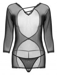 Open Back Mesh See Thru Sleepwear -