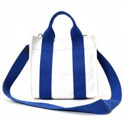 Striped Canvas Tote Bag - BLUE