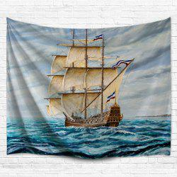 Wall Hanging Sail Boat Tapestry Bedspread Decor