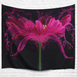Flower Print Wall Hanging Beach Throw Tapestry - Black - W59 Inch * L79 Inch