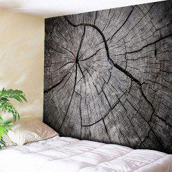 Wall Hanging Rotten Wood Printed Tapestry - Wood Color - W59 Inch * L79 Inch
