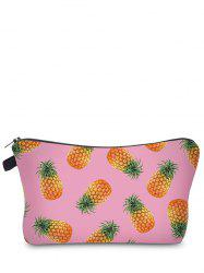 Fruit Printed Clutch Makeup Bag - PINK