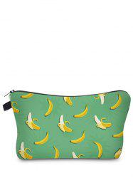 Fruit Printed Clutch Makeup Bag