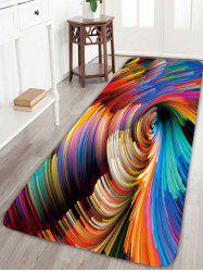 Psychedelic Vortex Print Skidproof Bathroom Rug - COLORFUL