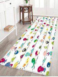 Cartoon Bird Pattern Anti-skid Water Absorption Area Rug