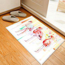 Flamingo Splatter Paint Pattern Anti-skid Water Absorption Area Rug