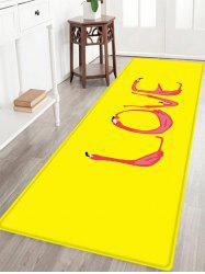 Flamingo Love Pattern Anti-skid Water Absorption Area Rug