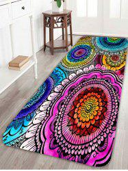 Extra Long Boho Mandala Print Skidproof Area Rug - COLORFUL