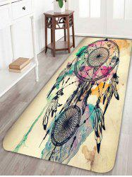 Dreamcatcher Feather Print Skidproof Bath Rug - Colorful - W24 Inch * L71 Inch